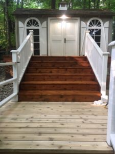 Stairs- Burlington Translucent & Solid Stain